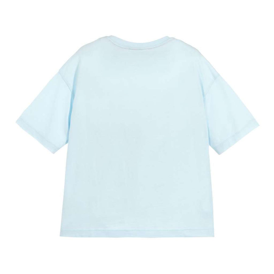 Fendi Light Blue Logo T-Shirt