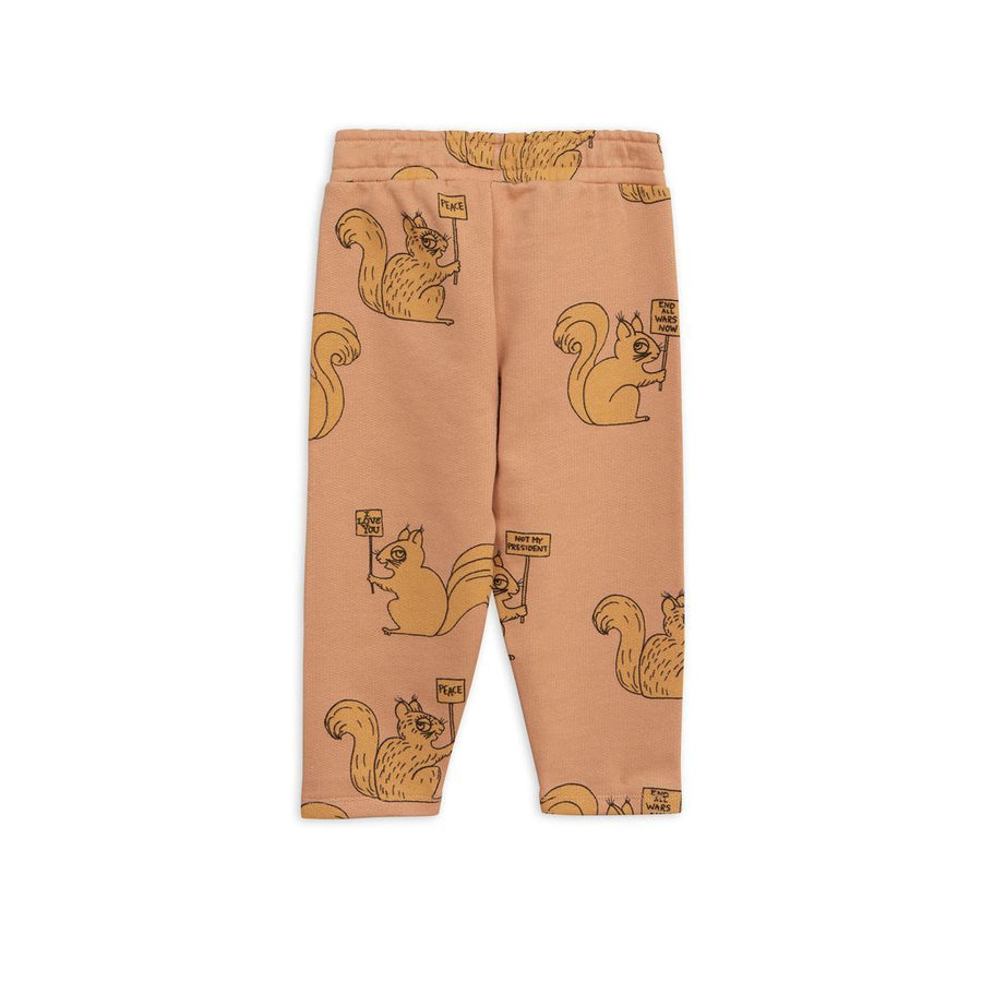 Mini Rodini Beige Squirrel Sweatpants