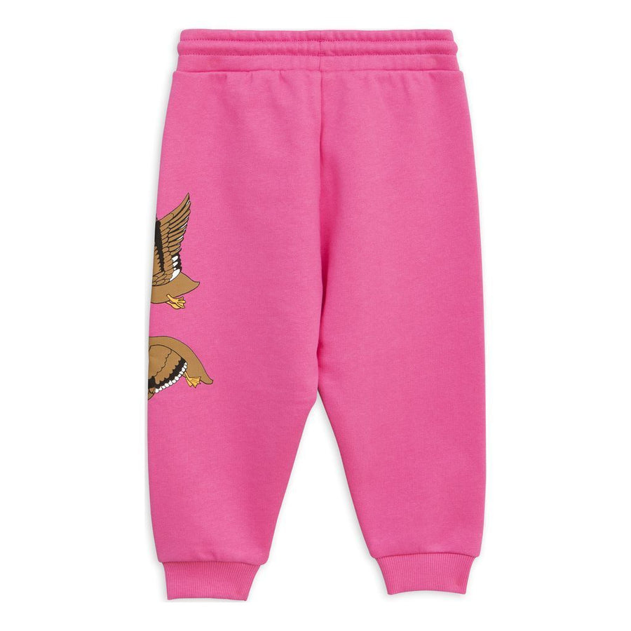 Mini Rodini Pink Duck sweatpants-Pants-Mini Rodini-kids atelier