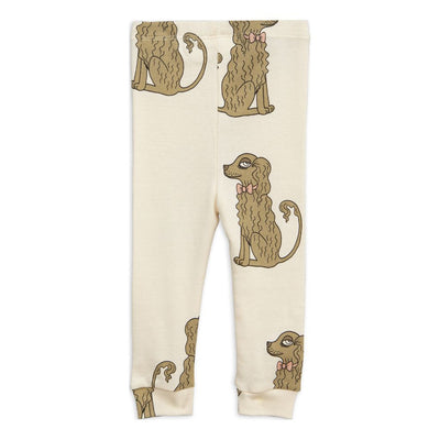 Mini Rodini Offwhite Spaniel leggings-Leggings-Mini Rodini-kids atelier