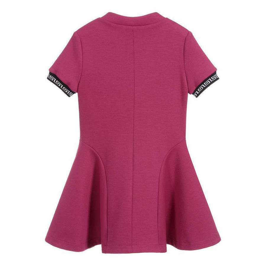 VERSACE-GIRLS S/S FIT & FLARE DRESS W/ MEDUSA DETAIL-YVFAB409FT01-4530 FUSCHIA