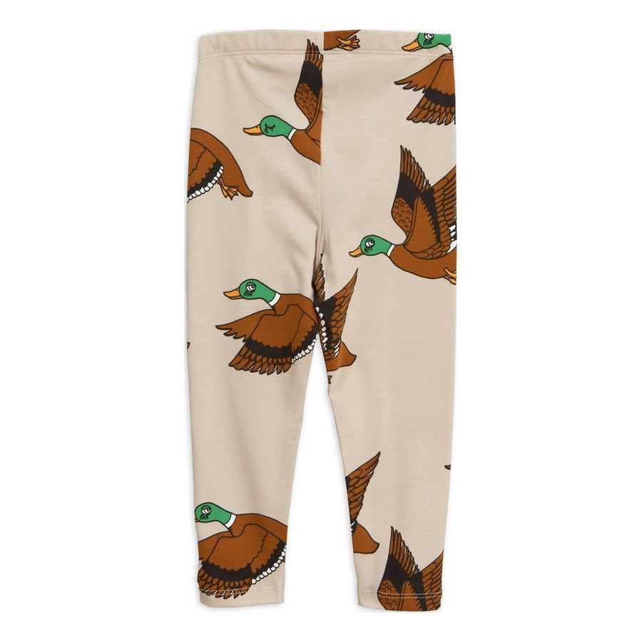 Mini Rodini Beige Duck Leggings
