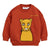 Mini Rodini Red Cat Patch Sweatshirt