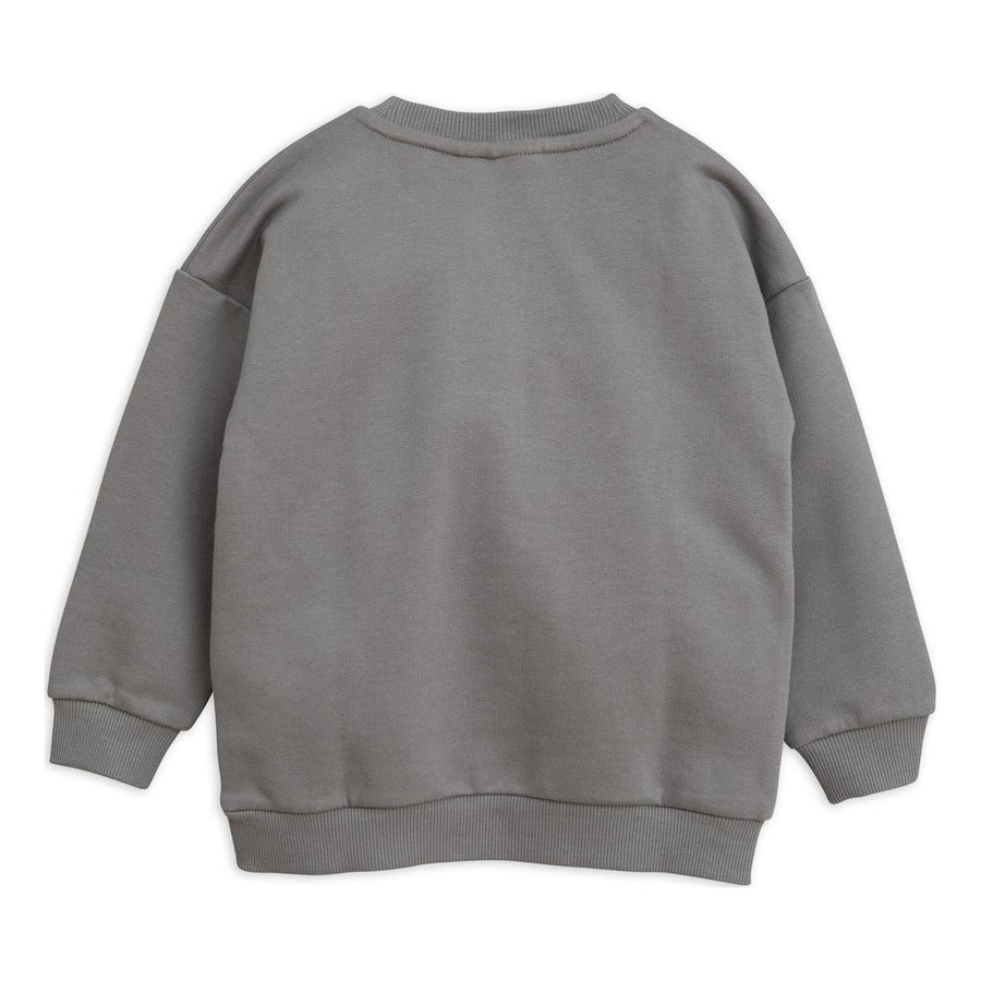 Mini Rodini Gray Cheercat Sweatshirt