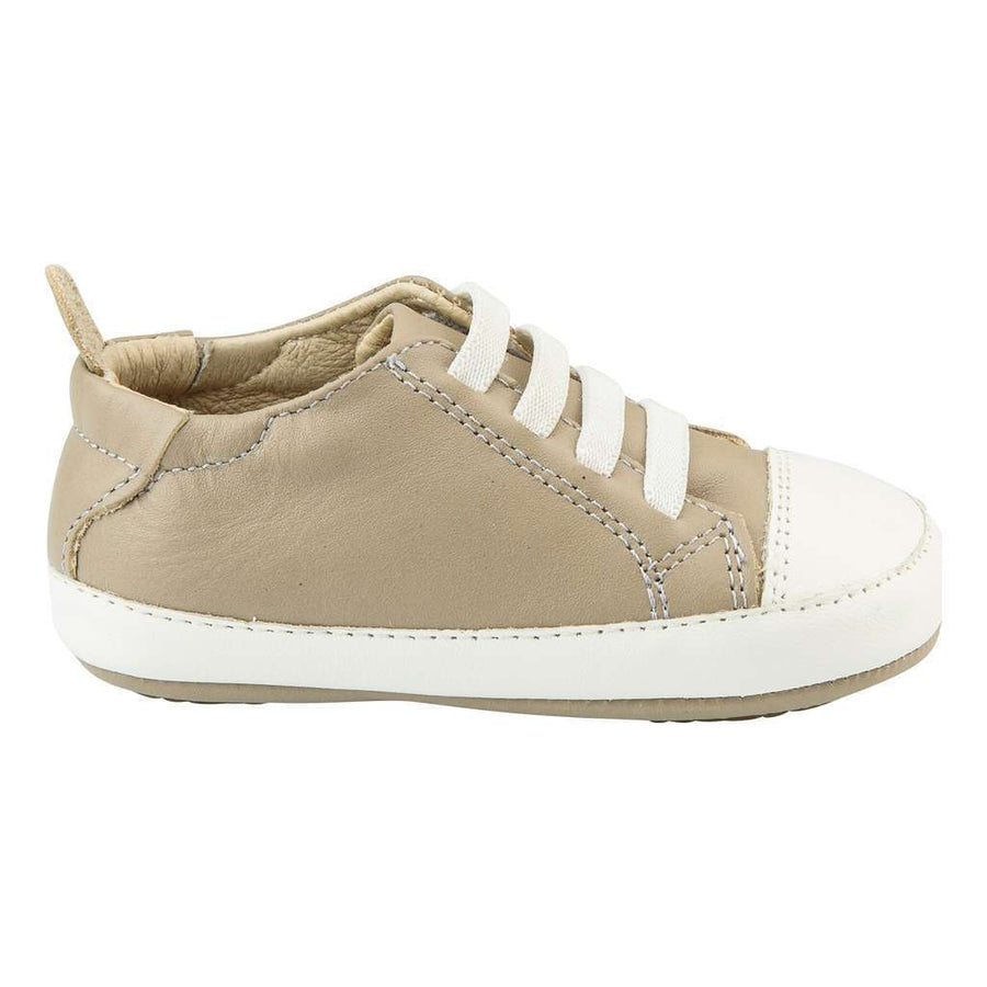 Old Soles Eazy Tread Taupe / White Shoes-Shoes-Old Soles-kids atelier
