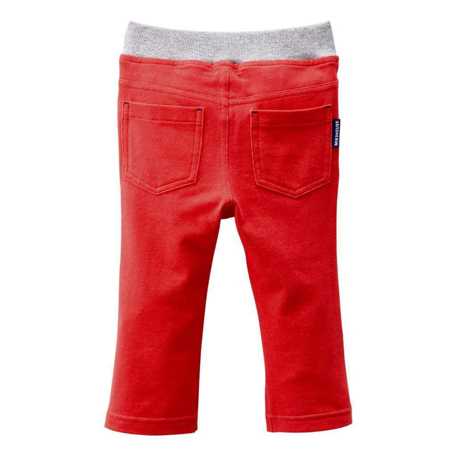 MIKI HOUSE RED LONG PANTS-Pants-MIKI HOUSE-kids atelier