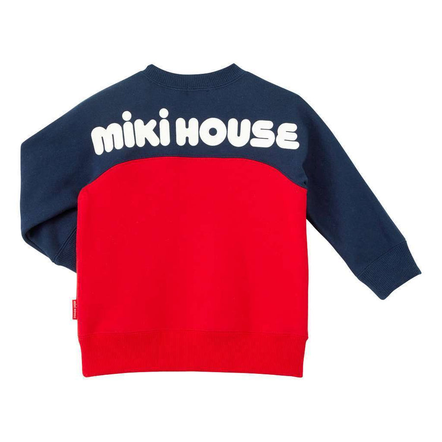 MIKI HOUSE RED NAVY SWEATSHIRT-Sweaters-MIKI HOUSE-kids atelier