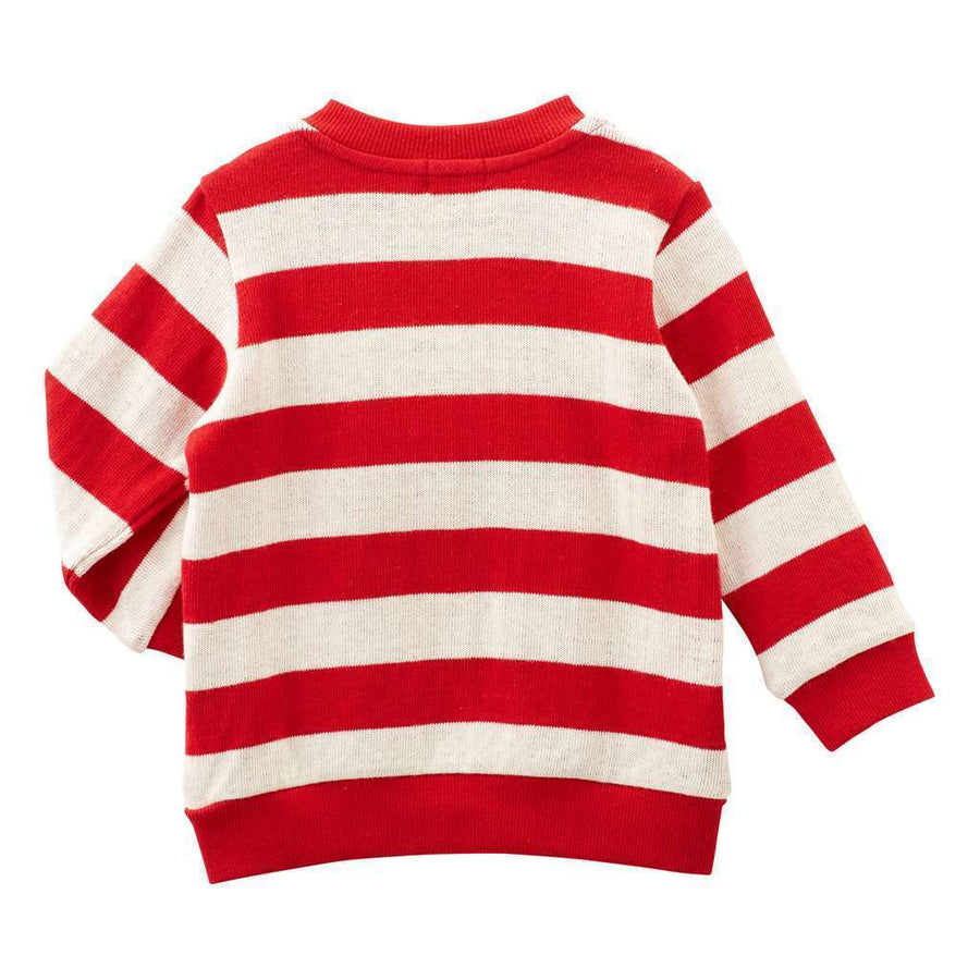 MIKI HOUSE BEAR RED SWEATSHIRT-Sweaters-MIKI HOUSE-kids atelier