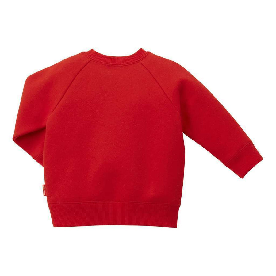 MIKI HOUSE RED SWEATSHIRT-Sweaters-MIKI HOUSE-kids atelier