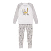 Deux Par Deux Light Gray Cat Pajamas-Pajamas-Deux Par Deux-kids atelier