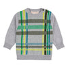 Deux Par Deux Gray Plaid Forest Sweater-Sweaters-Deux Par Deux-kids atelier
