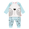 Deux Par Deux Marshmallow Bear Top & Pant Set