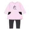 Deux Par Deux Pink Unicorn Tunic &  Legging Set