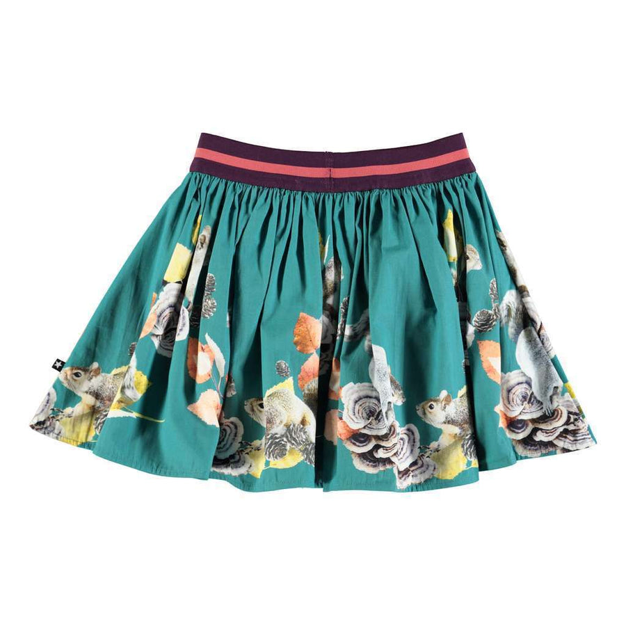 MOLO Brenda Turquoise Squirrels skirt