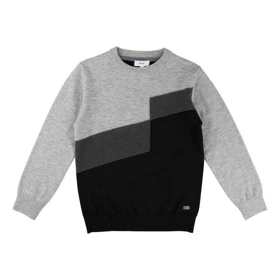 Boss Gray Stripe Pullover