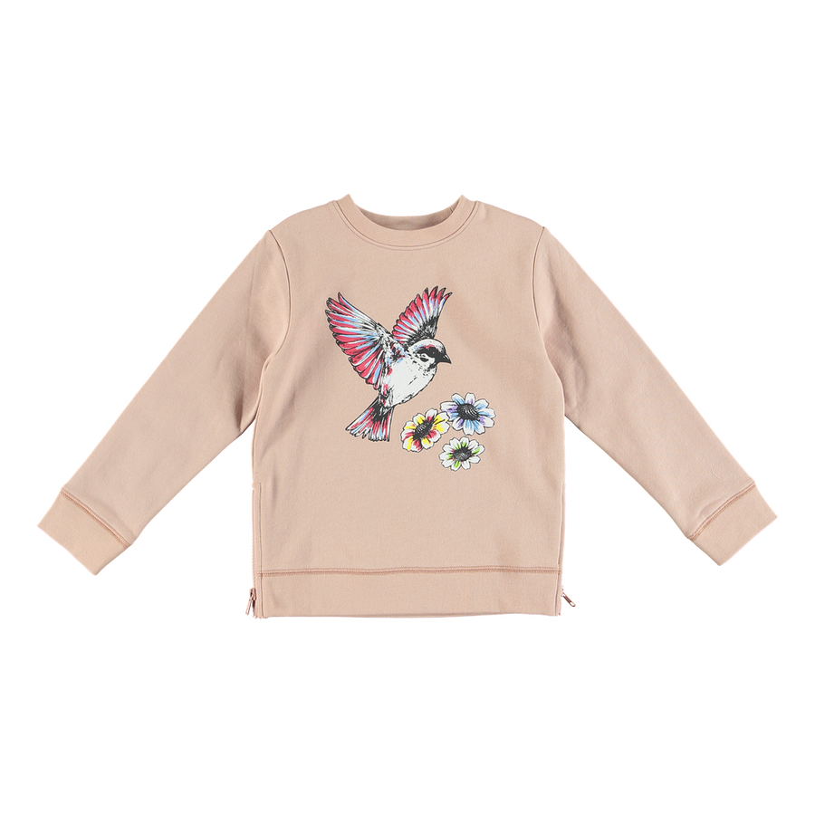 STELLA-ESTELLE GIRLS HUMMINGBIRD PULLOVER WITH SIDE ZIPS-518836SLJ35-5768 PINK