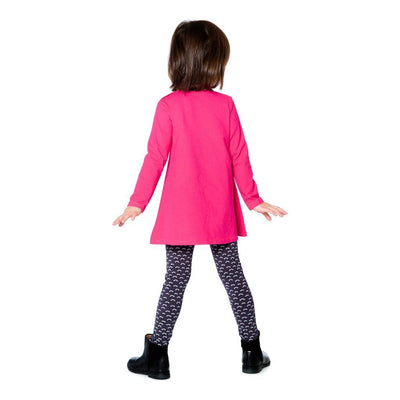 Deux Par Deux Fuchsia Owl Tunic And Legging Set-Outfits-Deux Par Deux-kids atelier