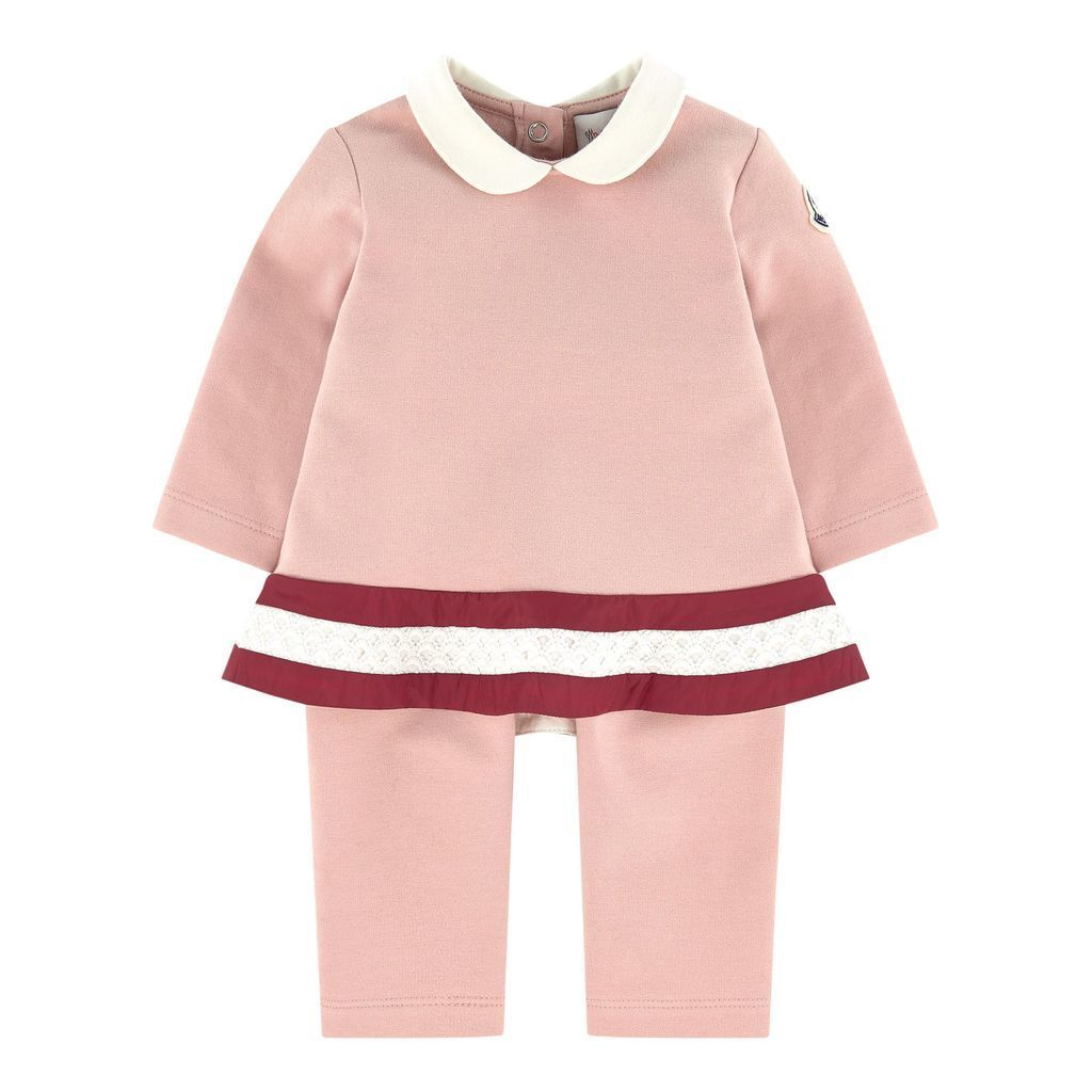 detailed look 885fe f0e5f MONCLER LIGHT PINK ABITO OUTFIT