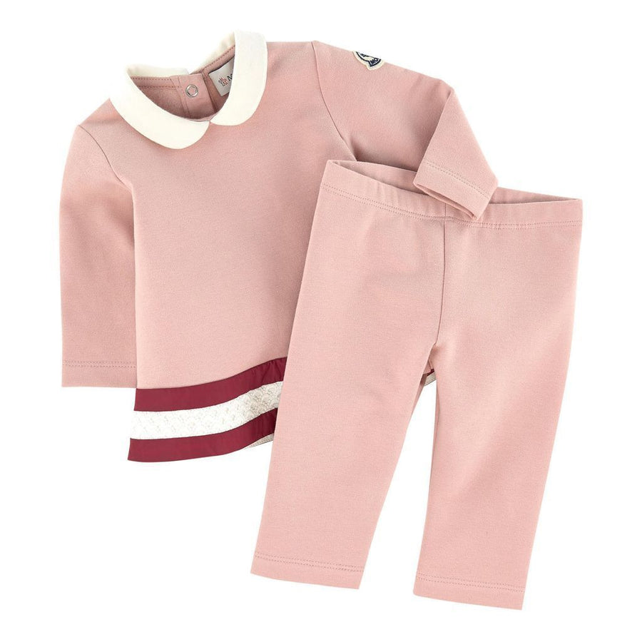MONCLER LIGHT PINK ABITO OUTFIT-Outfits-Moncler-kids atelier