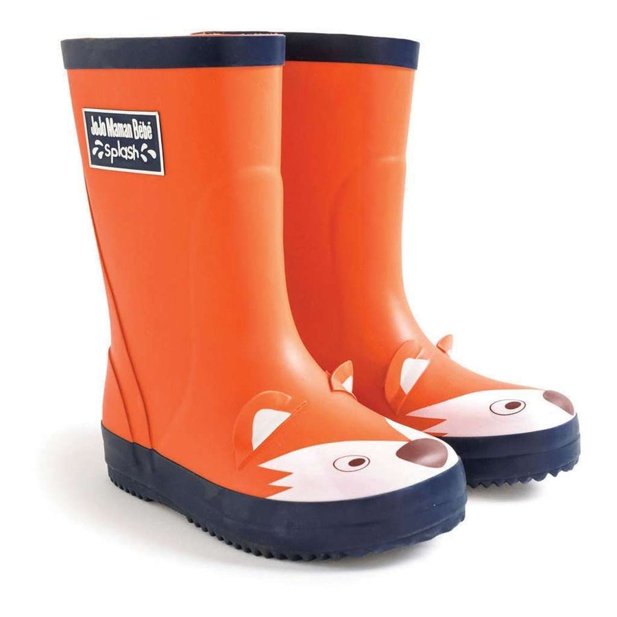 Jojo Maman Bebe Orange Fox Rain Boots-Shoes-Jojo Maman Bebe-kids atelier