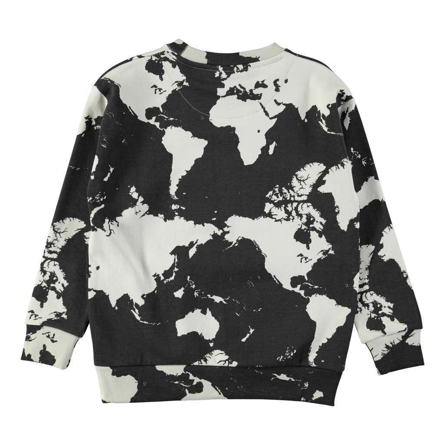 Molo Madsim World Map Dark Sweatshirt