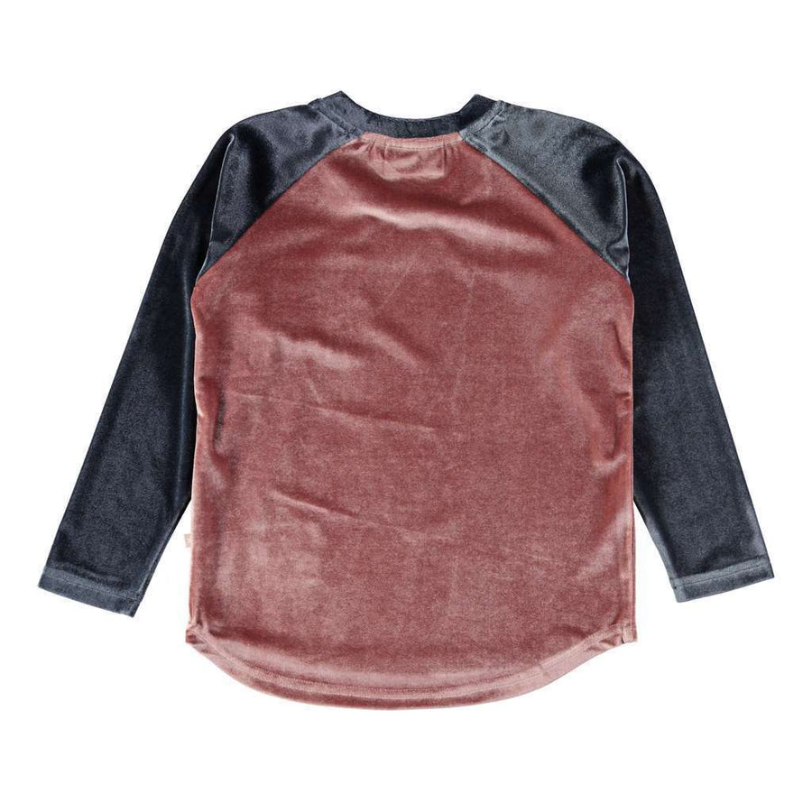 Molo Rhoda Autumn Berry Raglan Velour Top-T-Shirt-Molo-kids atelier