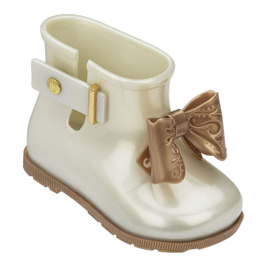 MINI MELISSA WHITE PEARL MINI SUGAR RAIN BOOT-Shoes-Mini Melissa-kids atelier