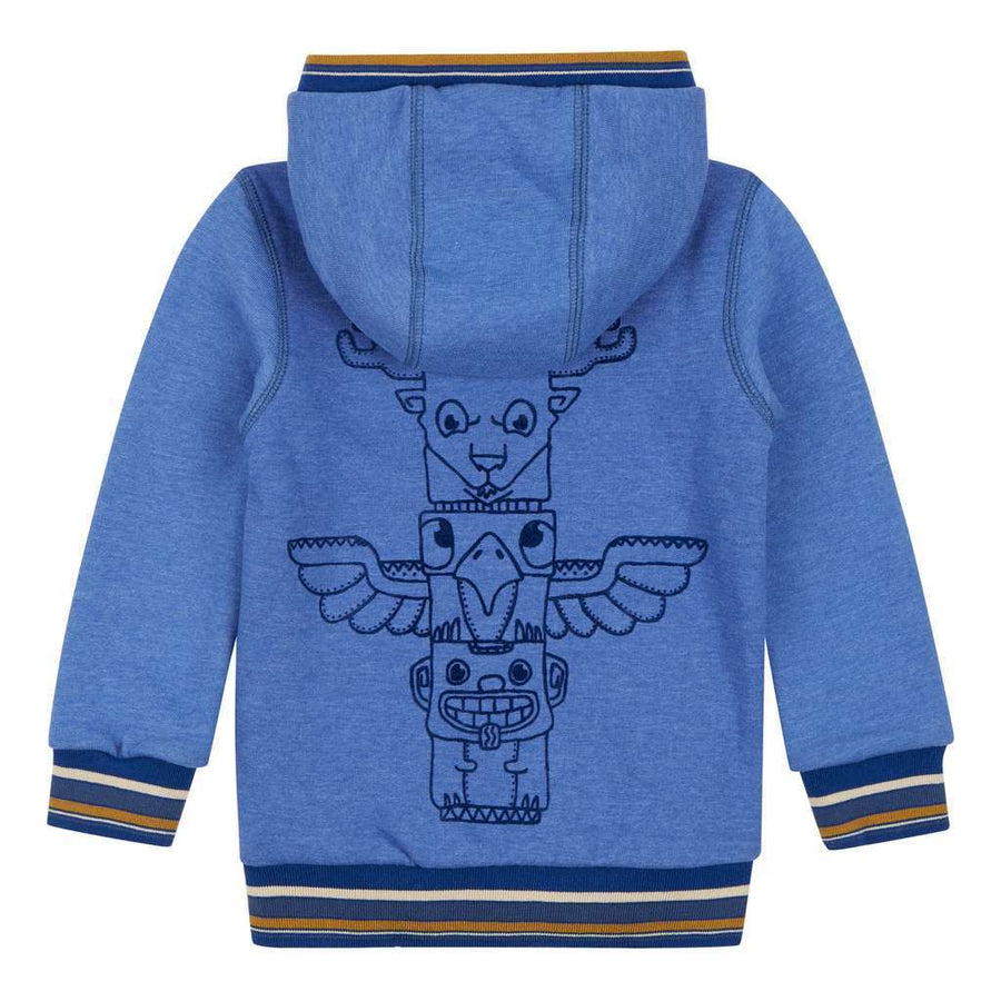 OILILY Blue Hawk sweat cardigan-Cardigans-Oilily-kids atelier