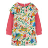 OILILY-Deesha dress 02 aop Mountain folk animals off white-YF18GDR203-02-Default-Oilily-kids atelier