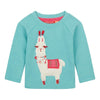 Oilily Hisabelle Melee Green With Lama Sweater-Default-Oilily-kids atelier