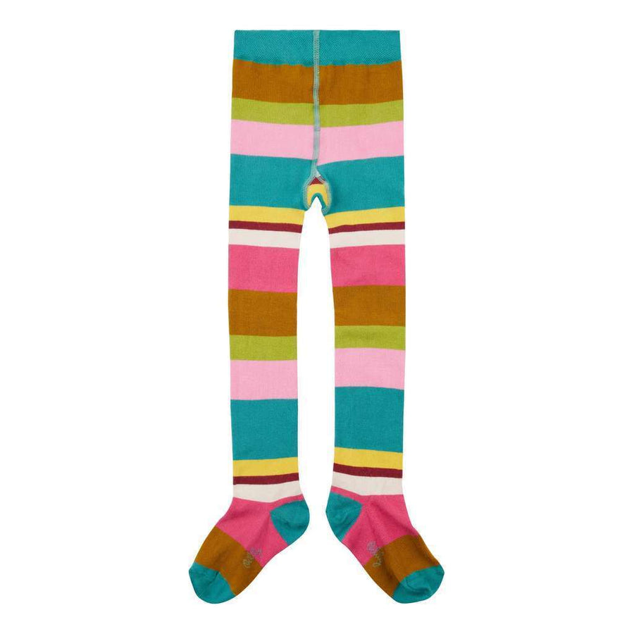 Oilily Multi-Color Green Stripe Marayure Tights