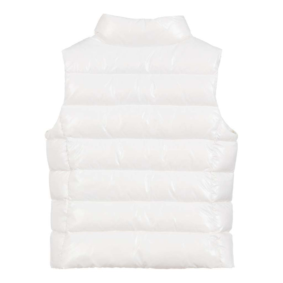 MONCLER WHITE GHANY VEST-Outerwear-Moncler-kids atelier
