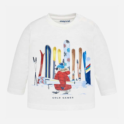 Mayoral Cream T-Shirt-Default-Mayoral-kids atelier