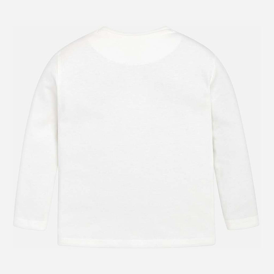 "MAYORAL-L/s ""driver"" t-shirt-04026-075 Cream-Default-Mayoral-kids atelier"