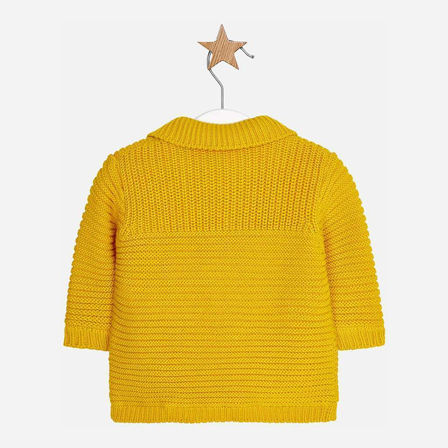Mayoral Yellow Knit cardigan-Cardigans-Mayoral-kids atelier