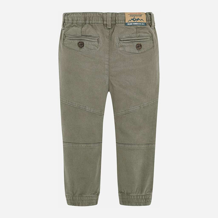 Mayoral Green Khaki Jogger Pants-Pants-Mayoral-kids atelier