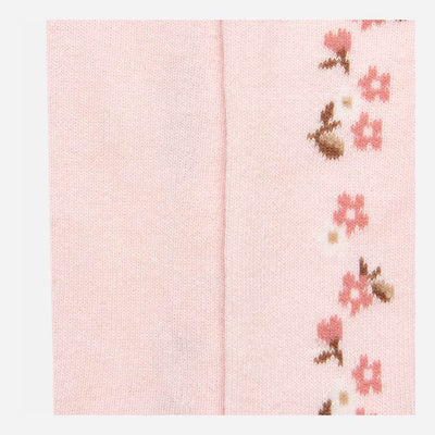 Mayoral Pink Rose Jacquard Tights-Accessories-Mayoral-kids atelier