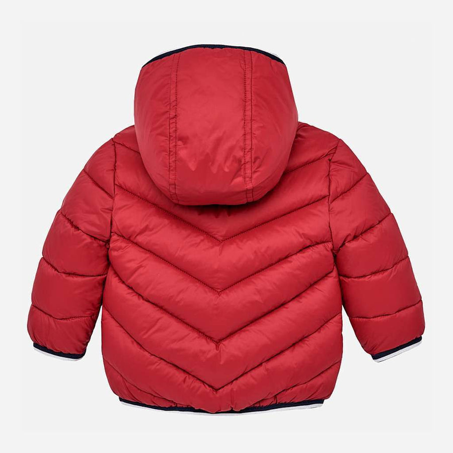 Mayoral Red Feathered Coat-Outerwear-Mayoral-kids atelier