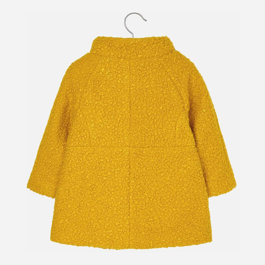 Mayoral Yellow Fuzzy Coat-Outerwear-Mayoral-kids atelier