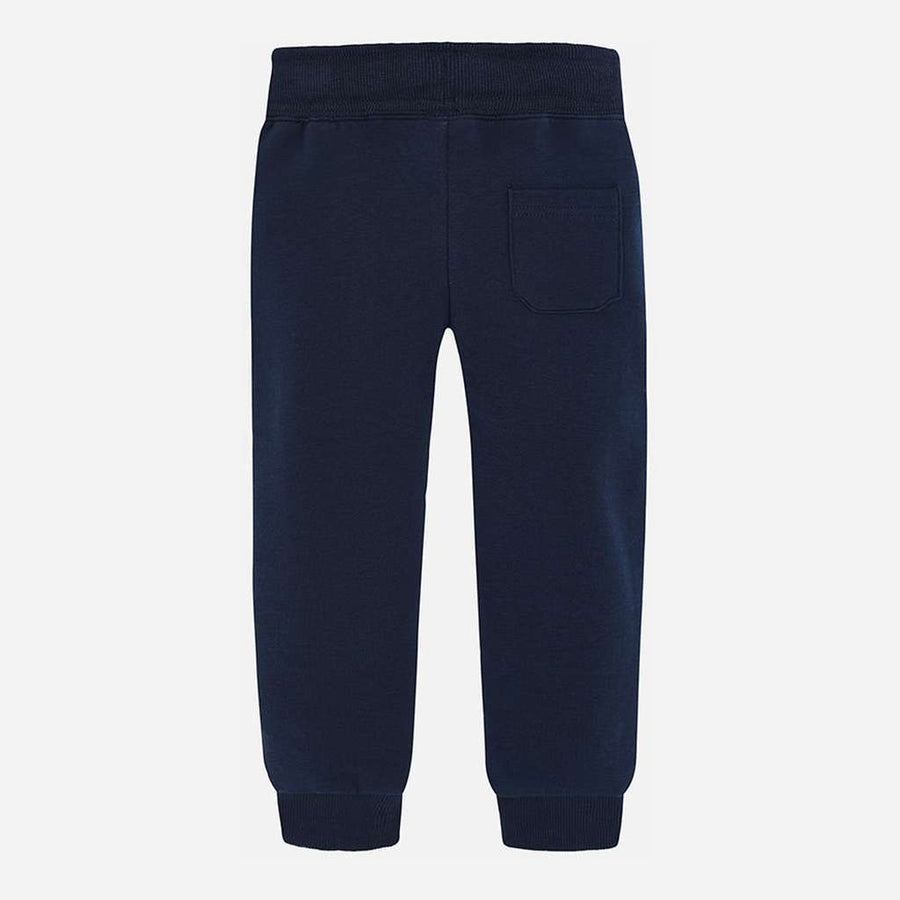Mayoral Navy Basic Cuffed Fleece Trousers-Pants-Mayoral-kids atelier