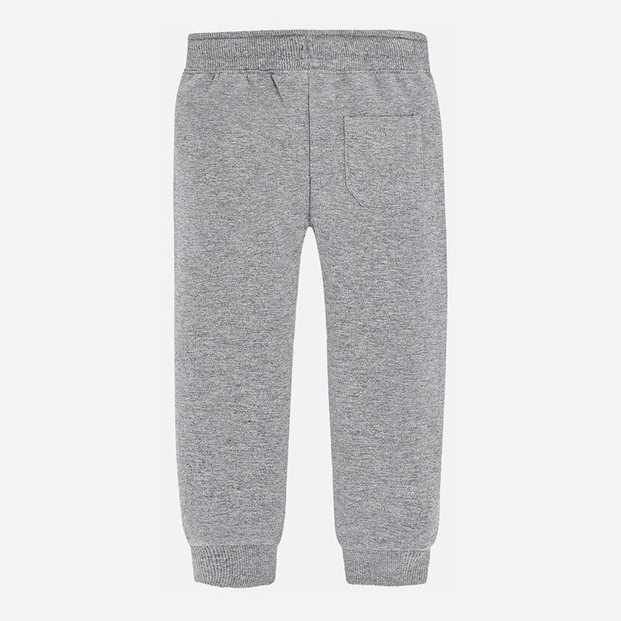 Mayoral Gray Basic Cuffed Fleece rousers-Pants-Mayoral-kids atelier