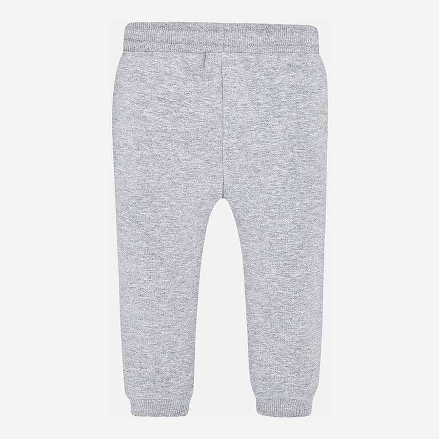 Mayoral Light Gray Basic Cuffed Fleece Trousers-Pants-Mayoral-kids atelier