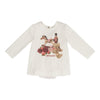 Monnalisa Cream Graphic T-Shirt-Default-Monnalisa-kids atelier
