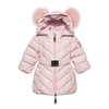 Monnalisa Antique Pink Down Padded Coat-Default-Monnalisa-kids atelier