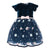 Monnalisa Air Force Blue/Pink Abito Ric.Petite Bouquet Dress
