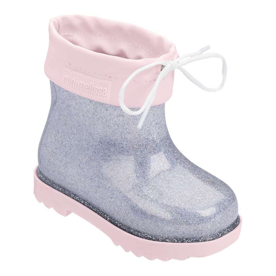 MINI MELISSA SILVER GLITTER MINI RAIN BOOT-Shoes-Mini Melissa-kids atelier