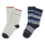 NAVY GRAY 2 PCS SOCK SET