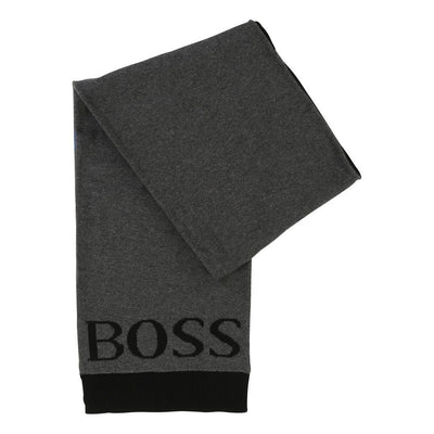 Boss Dark Gray Scarf-Accessories-BOSS-kids atelier