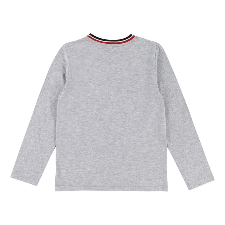 Boss Light Gray Stripe T-Shirt-T-Shirt-BOSS-kids atelier