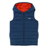 Boss Red Teal Reversible Puffer Vest-Outerwear-BOSS-kids atelier